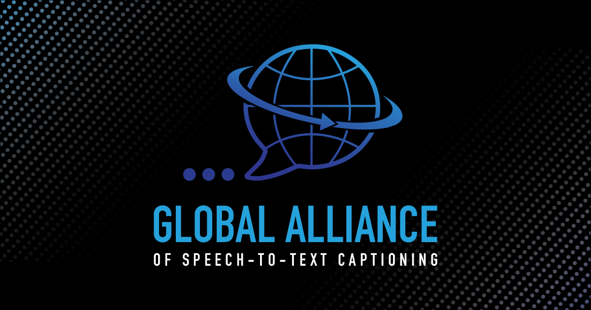 Global Alliance of Speech-to-Text Captioning Social Banner